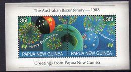 PAPUA NEW GUINEA, 1988 AUST BICENT MINISHEET MNH - Papua New Guinea