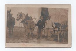 Photo Postcard FRANCE PARIS 1916 SOLDIERS & HORSE CART CHEVAUX CHEVAL PDERDE - Chevaux