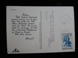 CPSM  - GUYANE - MARINOL PUBLICITE 1948-1949 - CACHET 1948 - CROCODILE - R11625 - Guyane Française (1886-1949)