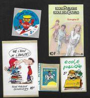 Lot De Vignettes France - Ecole Publique & Autre - Erinnophile - Commemorative Labels