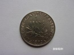 1 Franc - O. Roty - 1973 - KM 925 - H. 1 Franc