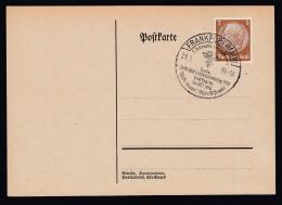 DR Postkarte Sonderstempel 1939 Frankfurt Main Ungelaufen K951 - Poststempel - Freistempel