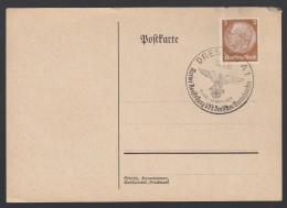 DR Postkarte Sonderstempel 1939 Dresden Ungelaufen K1356 - Poststempel - Freistempel