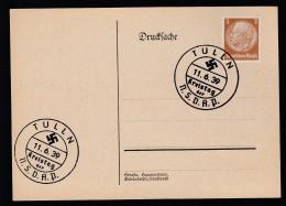 DR Postkarte Sonderstempel Kreistag NSDAP 1939 Tulln Ungelaufen K1360 - Poststempel - Freistempel