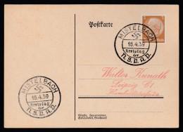 DR Postkarte Sonderstempel Kreistag NSDAP 1939 Mistelbach Ungelaufen K1362 - Poststempel - Freistempel