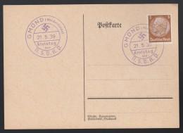 DR Postkarte Sonderstempel Blau Kreistag NSDAP 1939 Gmünd Niederdonau Ungelaufen K1363 - Poststempel - Freistempel