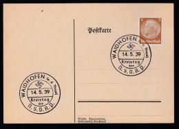 DR Postkarte Sonderstempel Kreistag NSDAP 1939 Waidhofen A D Thaya Ungelaufen K1364 - Poststempel - Freistempel