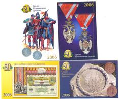 SERBIAN NUMISMATICS SOCIETY 1956-2006 YEAR   (x4) RARE - Calendarios