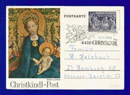 Österreich  1970  Mi.Nr. 1349 Christkindl - Post , Postkarte Gestempelt 15.12.1970 - Weihnachten