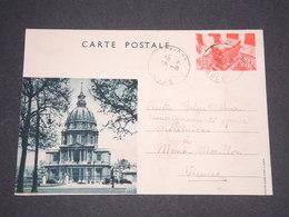 FRANCE - Entier Postal D ' Un Réfugié Belge En 1940 Pour Le Centre De Renseignements à Mont Morillon - L 12805 - Standard Postcards & Stamped On Demand (before 1995)