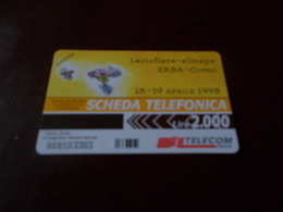 B677  Scheda Telefonica Lariofiere Erba Como - Phonecards