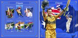Guinea Bissau 2018 Cricket Players India Pakistan Australia SA MS+S/S GB18007 - Stamps