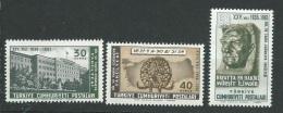 Turquie - Yvert Série  1582 / 1584 , 3 Valeurs **  -  Cw 29110 - Unused Stamps