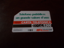 B677  Scheda Telefonica  Da Lire 5000 - Schede Telefoniche