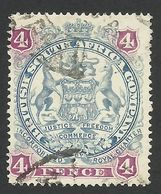 Rhodesia, British South Africa Company, 4 P, 1897, Sc # 54, Mi # 53, Used. - Great Britain (former Colonies & Protectorates)