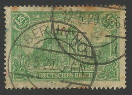 Germany, 1,25 M. 1920, Sc # 112, Mi # 113, Used, Berlin - Germany