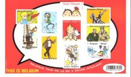 Belgique-2012-Blok 201-Bloc Tintin En Belgique,Héros De La BD** Non-Dentelé- Kuifje In België, Stripland-This Is Belgium - Belgique