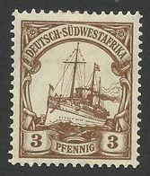 Deutsch Sudwestafrika, 3 Pf. 1907, Sc # 26, Mi # 24, MH. - Colony: German South West Africa
