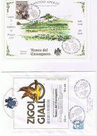 """Serie 8 Buste Con Etichette Vini  +1 Cartoncino """"cantine Aperte-Ronco Del Castagneto"""" Prepotto 1995 - Manifestazioni"""