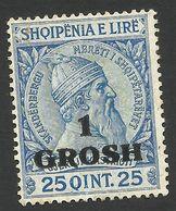 Albania, 1 Gr On 25 Q 1914, Sc # 50, Mi # 44, MH. - Albania