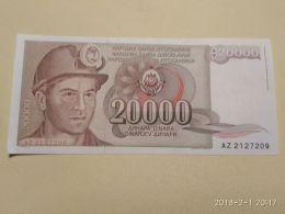 20000 Dinari 1987 - Jugoslavia