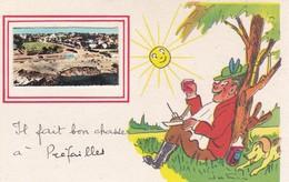 """¤¤  -  PREFAILLES   -  Carte Avec Petite Vue  -  Illustrateur """" Jean De Preissac """"  -  Chasseur  -  ¤¤ - Préfailles"""