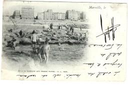 Enfants à La Baignade Aux Pierres Plates à MARSEILLE Carte Précurseur - Endoume, Roucas, Corniche, Spiaggia