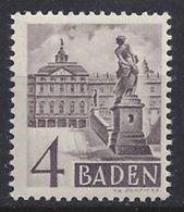Germany (Baden) 1948-49 4pf (**) MNH Mi.29 C VIII - Zone Française