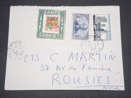 """FRANCE - Porte Timbre """" Santé Sobriété """" Sur Enveloppe De Granville Pour Rousies En 1962 - L 12823 - Marcophilie (Lettres)"""