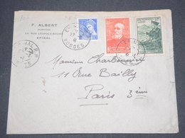 FRANCE - Enveloppe De Épinal Pour Paris En 1941- L 12828 - 1921-1960: Période Moderne