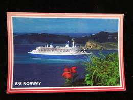 CPSM - S/S NORWAY - LUXURY LINER- TIMBREE 1997 -  R11639 - Steamers