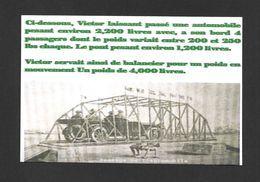 SPORTS - HALTÉROPHILIE - LUTTEUR - VICTOR DELAMARRE (1888 - 1955) UN DE SES TOUR DE FORCE - LE ROI DE LA FORCE - Haltérophilie