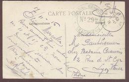 """Franchise Militaire Santé  """" Hôpital Bénévole N° 29 Bis  Beaupréau  """" Maine Et Loire  Convalescent 1914 1918 - Guerre 1914-18"""