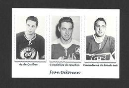 SPORTS - HOCKEY - PHOTOS DE JEAN BÉLIVEAU - AS DE QUÉBEC - CITADELLES DE QUÉBEC - CANADIENS DE MONTRÉAL - Sports D'hiver