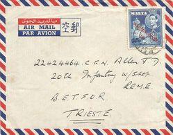 Malta 1952 HMS Forth Submarine Depot Ship BETFOR Trieste British FPO 136 Cover - Trieste