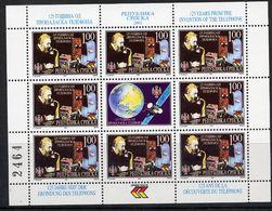BOSNIAN SERB REPUBLIC 2001 Telephone Anniversary Sheetlet MNH / **.  Michel 224-227 - Bosnia And Herzegovina