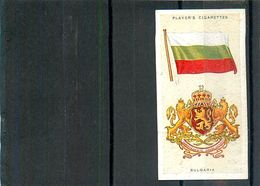 Image Player's Cigarettes A Series Of 50 N°7 National Flags And Arms Bulgaria Drapeau De La Bulgarie Texte Au Dos - Player's
