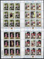 BOSNIAN SERB REPUBLIC 2001 Costumes Sheetlets MNH / **.  Michel 206-09 Kb - Bosnia And Herzegovina