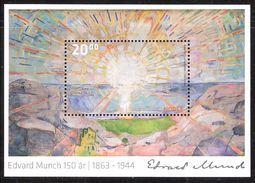 Norway 2013 Edvard Munch - Painting - Sun, Mi Bloc 44 MNH(**) - Noorwegen