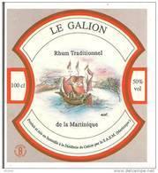 Etiquette  Rhum  Traditionnel - 50% 100cl -Distillerie  LE GALION -  MARTINIQUE - - Rhum