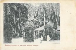 Sri Lanka (Ceylon, Ceylan) - Entrance To The Royal Botanic Garden, Kandy - Carte Dos Simple, Non Circulée - Sri Lanka (Ceylon)
