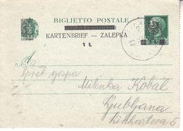 0906    LUBIANA  -LAIBACH     BESETZUNG  ITALIEN--DEUTSCH   --RIBNICA  1945 - Occ. Allemande: Lubiana