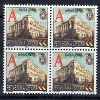BOSNIAN SERB REPUBLIC 2001 Definitive Rate A Block Of 4 MNH / **.  Michel 219 - Bosnia And Herzegovina