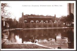 Exposition Coloniale  Internationale De Paris 1931 - Palais De L'Afrique Occidentale Française AOF - Le Restaurant & Eau - Expositions
