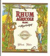 Etiquette Rhum Blanc Agricole - 50% - 70cl. - MARTINIQUE - - Rhum