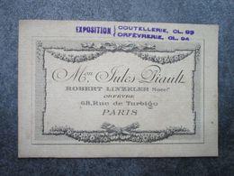Maison Jules PIAULT, Robert LINZELER Succr. - ORFEVRE - 68, Rue De Turbigo - Arrondissement: 03
