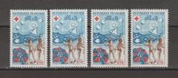FRANCE / 1974 / Y&T N° 1828 ** : Croix-rouge (Eté) X 4 En TP Isolés - Gomme D'origine Intacte - Ungebraucht