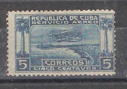 CUBA , 1927, Poste Aérienne AEREO . Airmail N° 1 ,5 C Bleu / Bleu, Hydravion Survolant Le Port La Havane, Neuf * / MH TB - Poste Aérienne