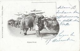 Indochine, Série Du Cambodge: Eléphant Royal - Editeurs Claude & Cie, Saïgon - Carte Dos Simple 1903 - Cambodge