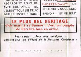 Mutualite Chretienne Affiche Pour Pension 60 Cm Sur 100 Cm - Programmes